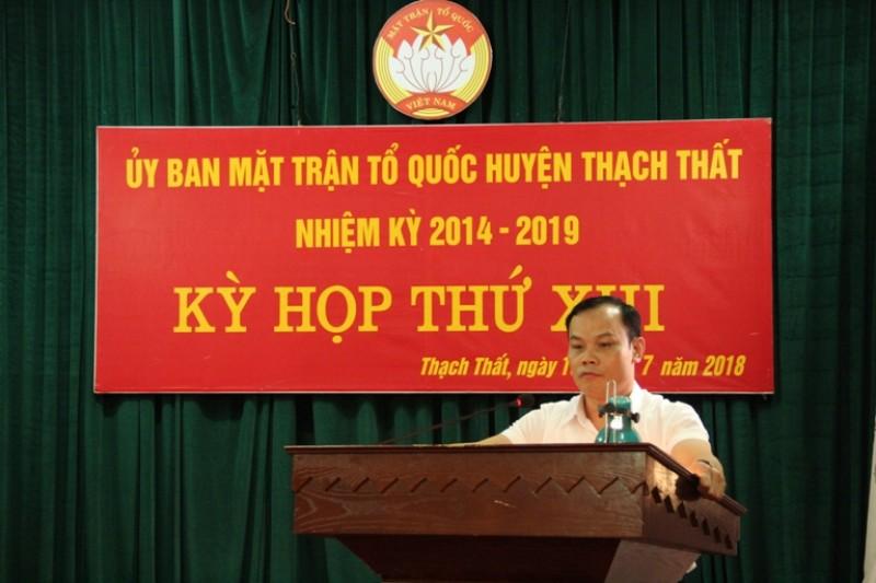 Uỷ ban MTTQ huyện Thạch Thất:  Phát huy sức mạnh khối đại đoàn kết