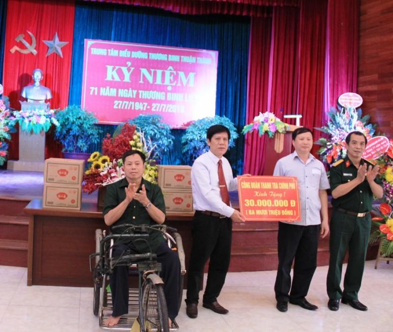 Công đoàn Thanh tra chính phủ thăm và tặng quà thương bệnh binh
