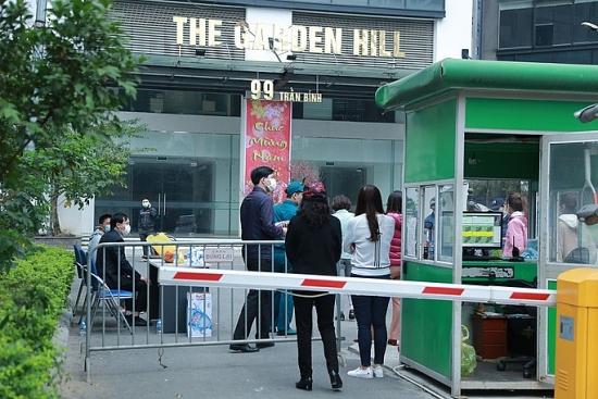 Phong tỏa, lấy mẫu xét nghiệm cư dân tại tòa nhà A và B chung cư Garden Hill