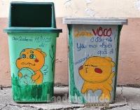Bảo vệ môi trường từ những thùng rác ngộ nghĩnh