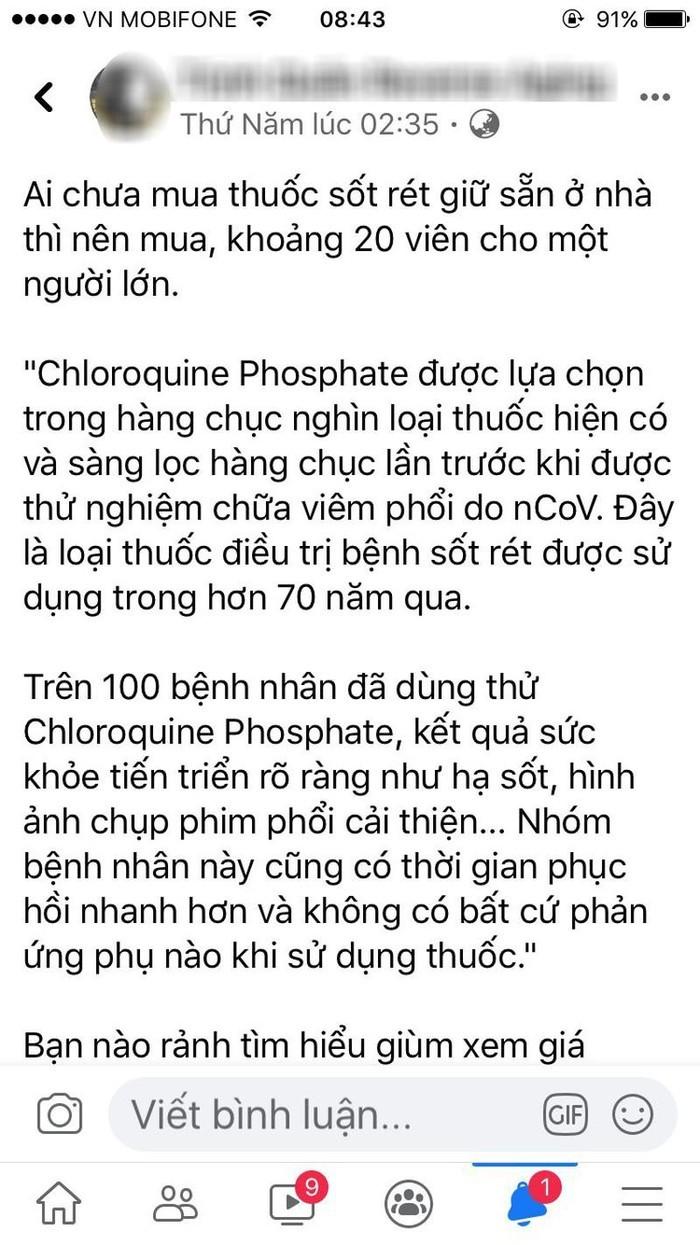 uong thuoc sot ret de phong covid 19 nguy hai khon luong