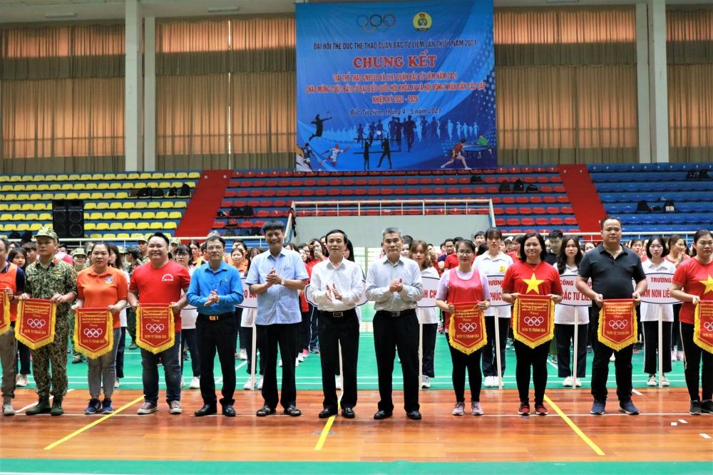 Chung kết giải thể thao công nhân, viên chức, lao động quận Bắc Từ Liêm năm 2021