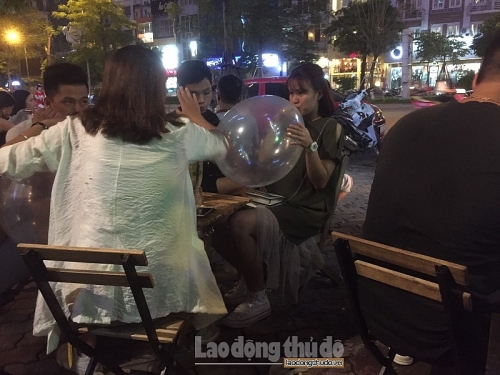 Hà Nội: Cấm sử dụng bóng cười trong vui chơi, giải trí