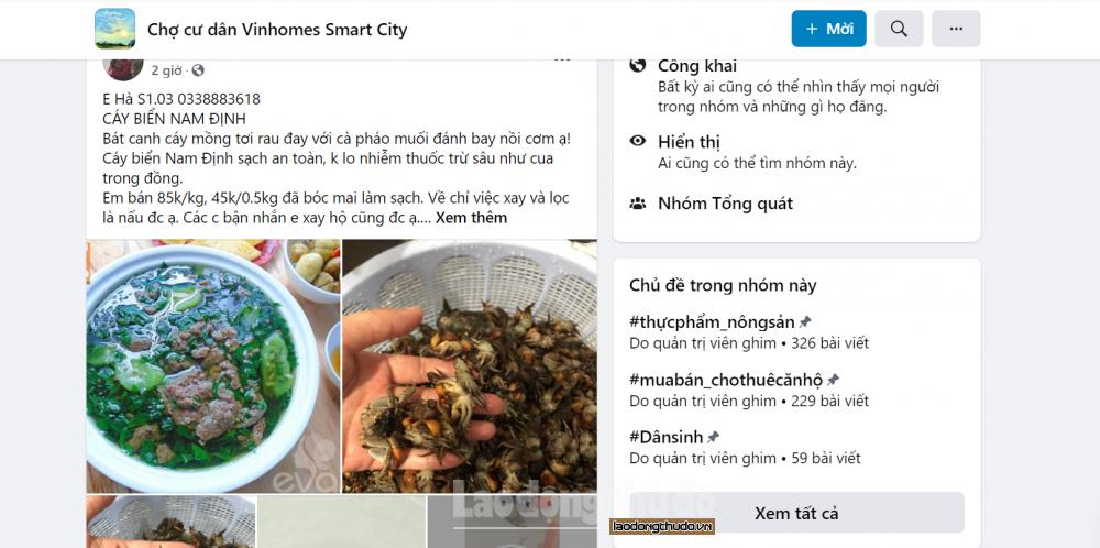 Cần thanh, kiểm tra sản phẩm chợ online để bảo đảm an toàn thực phẩm