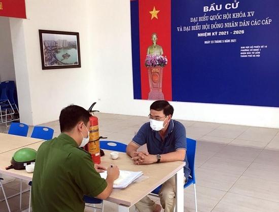Chủ động kiểm tra phòng cháy chữa cháy tại các điểm bầu cử