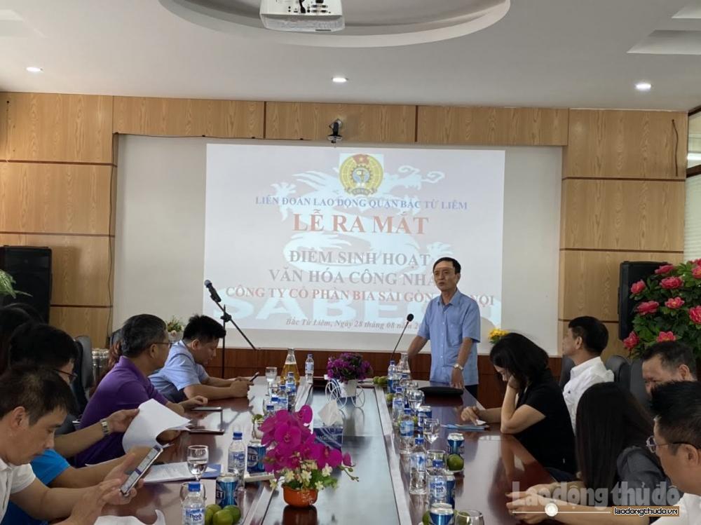 Ra mắt Điểm sinh hoạt văn hóa công nhân tại Công ty cổ phần Bia Sài Gòn    Hà Nội