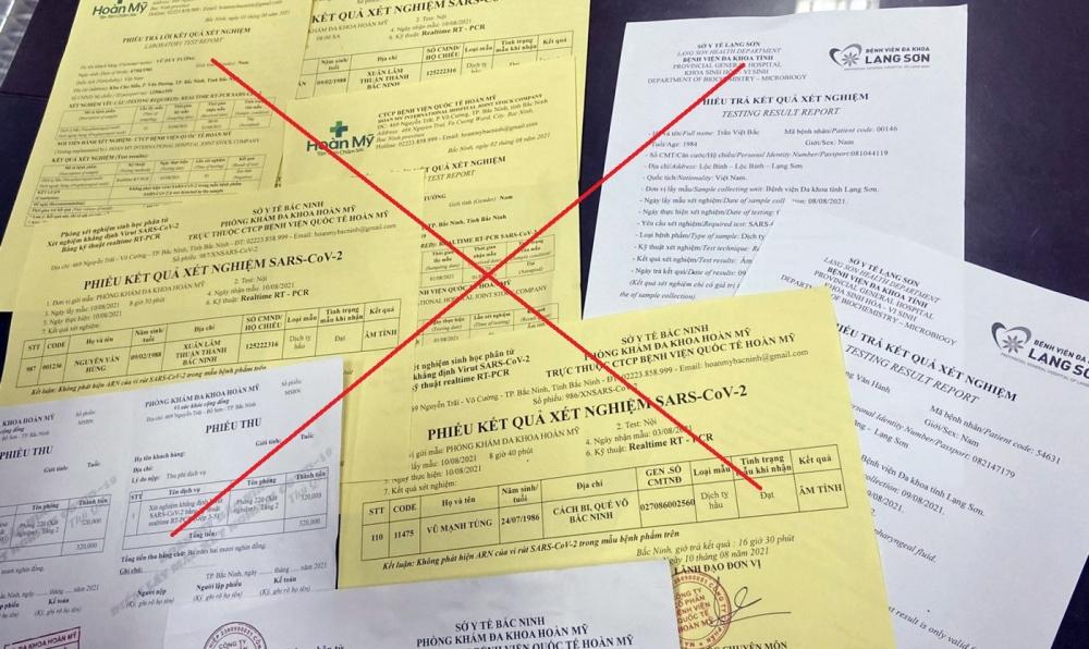 Cần xử lý nghiêm hành vi mua bán, làm giả giấy xét nghiệm Covid-19