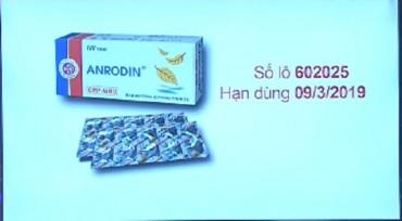 Dược phẩm N.I.C bị đình chỉ và thu hồi thuốc Anrodin