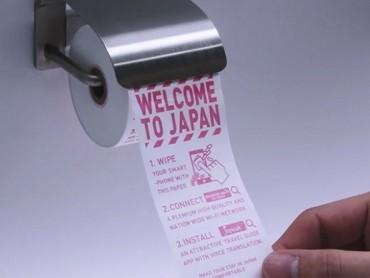 Du khách đến Nhật thích thú với sáng tạo giấy vệ sinh điện thoại