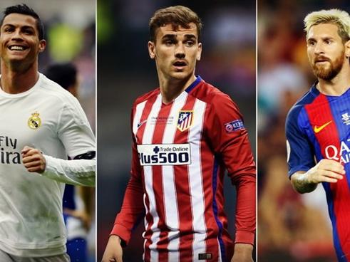 Cầu thủ xuất sắc nhất thế giới: Ronaldo, Messi hay Griezmann?