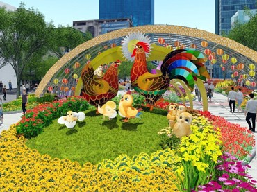 Đàn gà 'khủng' sắp xuất hiện trên đường hoa Nguyễn Huệ