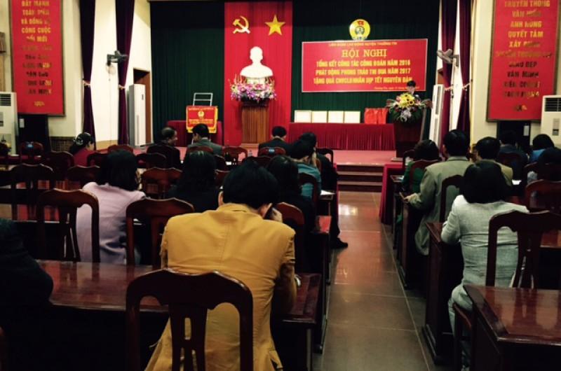 LĐLĐ huyệnThường Tín: Cùng doanh nghiệp chăm lo cho người lao động