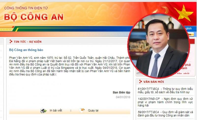 Nhìn lại quá trình truy bắt Phan Văn Anh Vũ
