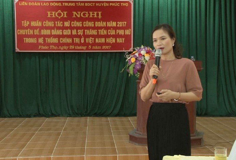 LĐLĐ huyện Phúc Thọ: Nâng cao chất lượng cán bộ công đoàn