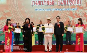 Hà Nam kỷ niệm 60 năm ngày Bác Hồ về động viên chống hạn