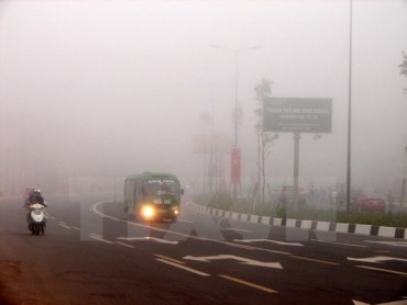 Sương mù bao phủ từ miền Bắc đến miền Trung, cả đất liền lẫn trên biển