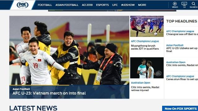 Truyền thông quốc tế thán phục chiến tích lịch sử của U23 Việt Nam