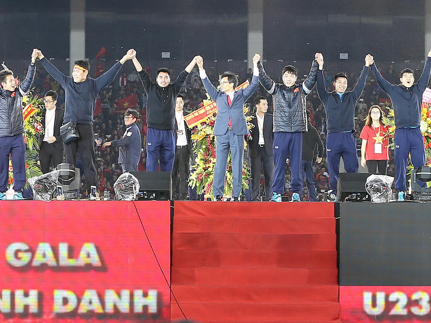 Gala mừng công Đội tuyển U23 tại Mỹ Đình