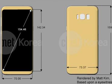 Hình dáng, kích thước Galaxy S8 và S8 Plus lộ toàn diện