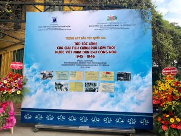 Trưng bày Tập Sắc lệnh của Chủ tịch Hồ Chí Minh giai đoạn 1945-1946