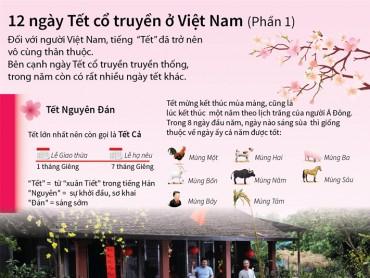 [Infographic] 12 ngày Tết cổ truyền ở Việt Nam