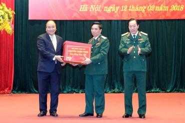 Thủ tướng thăm, kiểm tra công tác ứng trực tại Bộ Tư lệnh Thủ đô Hà Nội