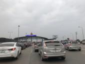 Cao tốc Pháp Vân - Cầu Giẽ vào Hà Nội ùn tắc hàng km