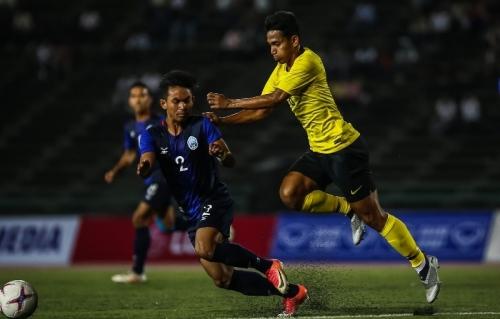 Malaysia thua sốc Campuchia tại giải U22 Đông Nam Á 2019
