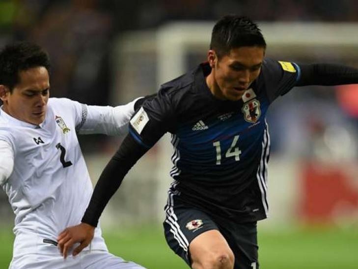 Thua đậm Nhật Bản, Thái Lan vỡ mộng dự World Cup 2018