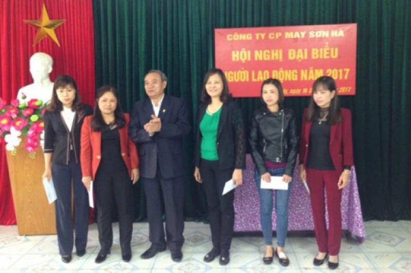 Công ty Cổ phần May Sơn Hà: Tổ chức hội nghị người lao động