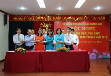 Hội nghị cán bộ công chức, viên chức Cơ quan dân đảng quận Hoàng Mai năm 2018