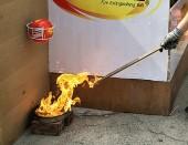 Trình diễn bóng chữa cháy tự động dập tắt lửa phạm vi 10m2