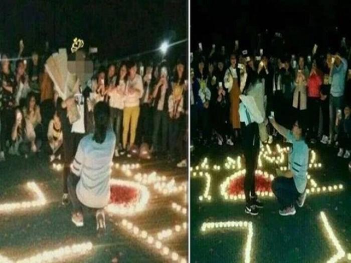 Nữ sinh đại học cầu hôn bạn gái gây xôn xao