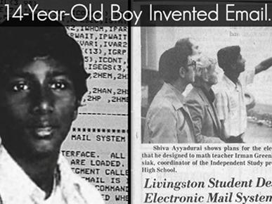E-mail được phát minh bởi cậu bé 14 tuổi người Ấn Độ