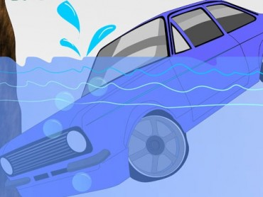 Thoát khỏi xe hơi chìm xuống nước sao cho đúng cách