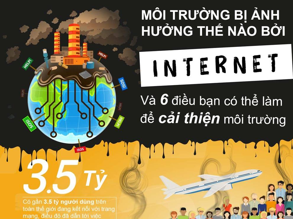 Internet đang hủy hoại môi trường thế nào?