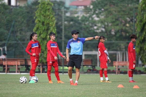 Đội tuyển U15 nữ Việt Nam tập trung chuẩn bị cho giải khu vực