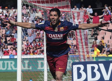 """Phế truất"" Messi và Ronaldo, Suarez nhận giải Pichichi"