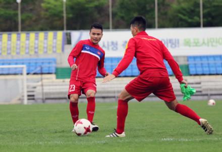 U20 Việt Nam tập nhẹ buổi đầu tại Hàn Quốc
