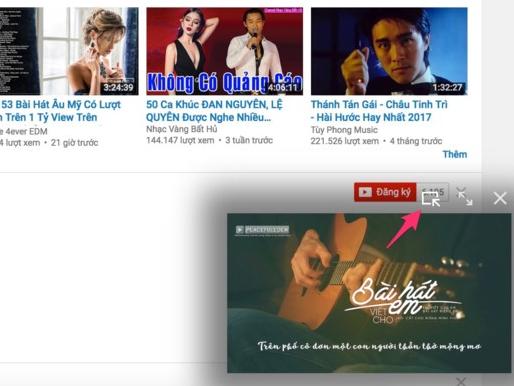 Thủ thuật mở video trên YouTube dưới dạng cửa sổ