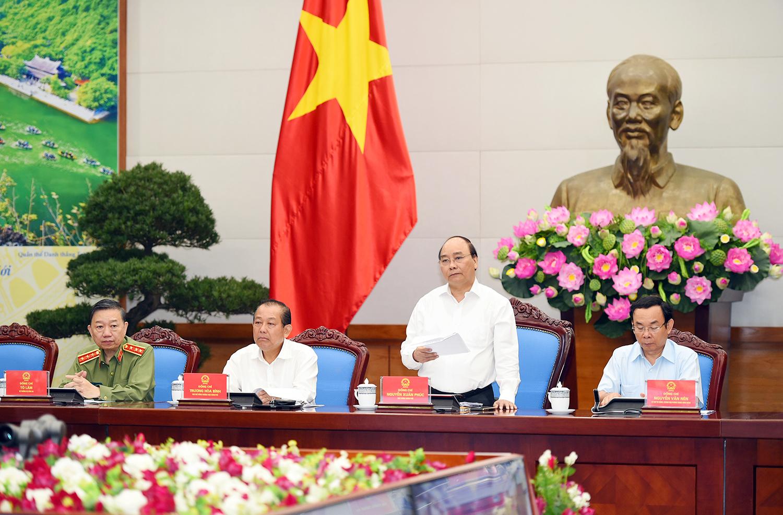 Thủ tướng họp trực tuyến với các địa phương về an ninh trật tự
