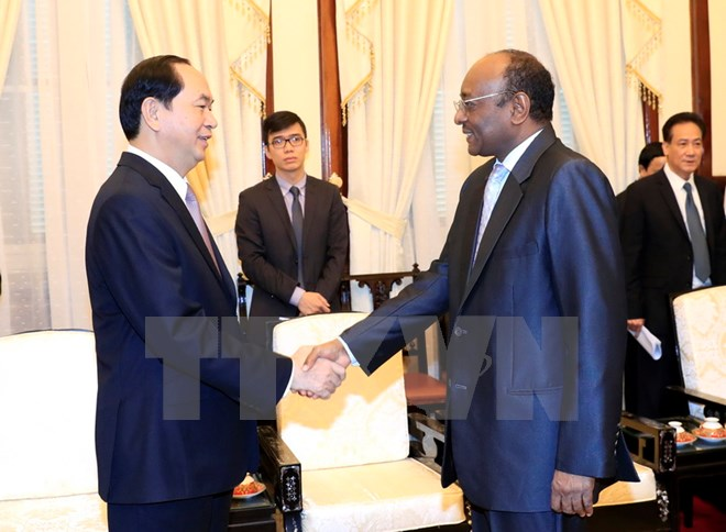 Chủ tịch nước Trần Đại Quang tiếp Đại sứ Cộng hòa Sudan chào từ biệt