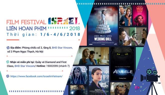 chieu phim mien phi tai lien hoan phim israel 2018