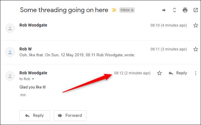 cach hien thi email moi nhat tren cung cuoc tro chuyen gmail