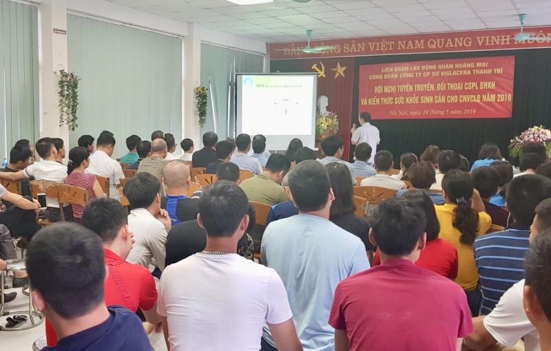 LĐLĐ quận Hoàng Mai: Nâng cao kiến thức pháp luật về BHXH cho công nhân