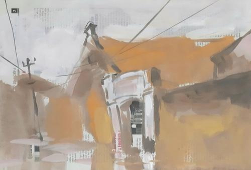 Ra mắt 50 tác phẩm tranh bột màu về ngôi làng Cự Đà hơn 400 năm tuổi