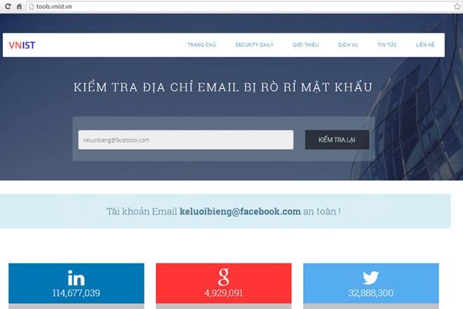 Kiểm tra mật khẩu Google, Facebook có bị lộ hay không