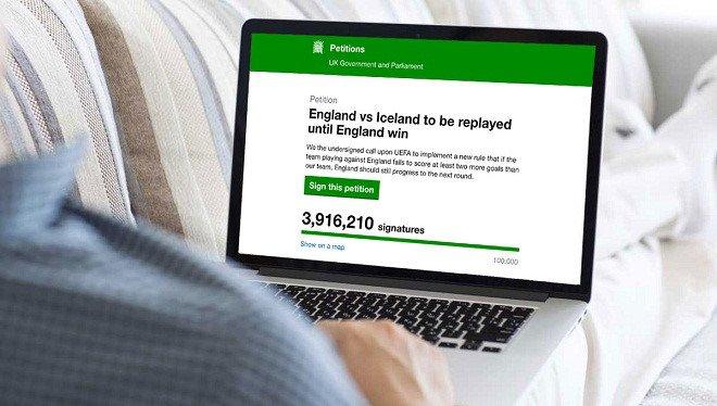 3,9 triệu CĐV Anh yêu cầu đá lại trận Anh - Iceland