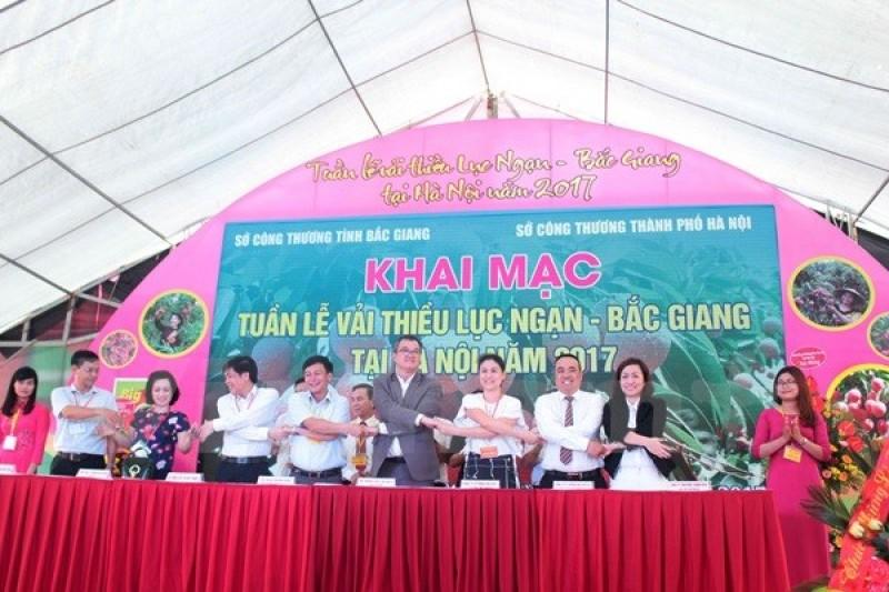 Hà Nội: Vải thiều Lục Ngạn thu hút người tiêu dùng
