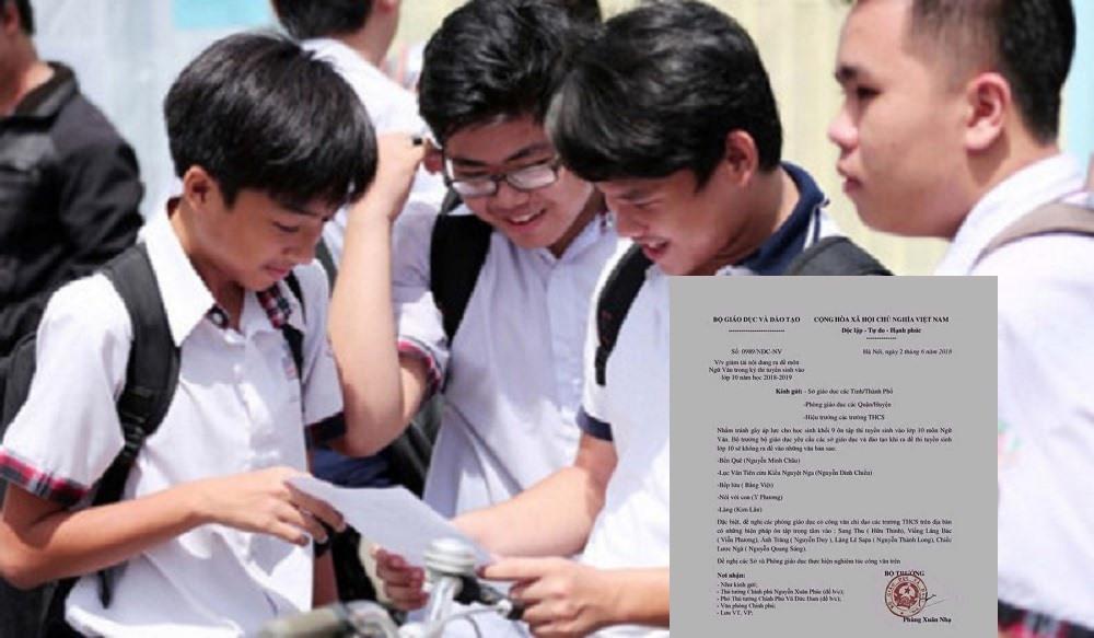 Bộ Giáo dục và Đào tạo lên tiếng về công văn giả mạo việc giới hạn tác phẩm thi vào lớp 10